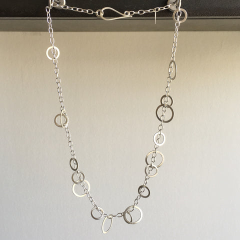 Heather Guidero Silver Cirlce Bunches Necklace