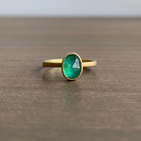 Lola Brooks Oval Emerald Ring