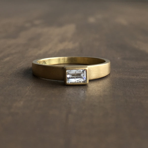 Lola Brooks Baguette Tapered Shank Ring