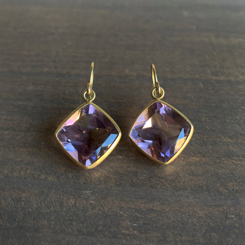Monica Marcella Amethyst Drop Earrings