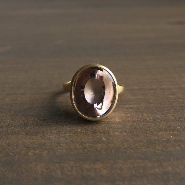 Monika Krol Smoky Quartz Cast Ring