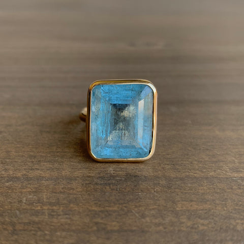 Russell Jones Aquamarine Pinch Ring