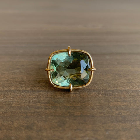 Russell Jones Prasiolite Sketch Ring