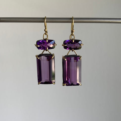 Russell Jones Amethyst Swing Earrings