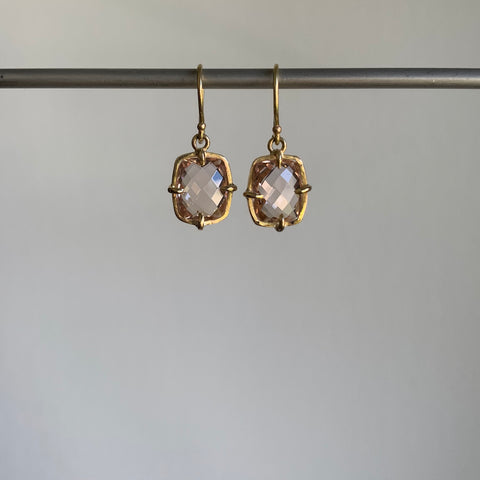 Russell Jones Morganite Frame Earrings