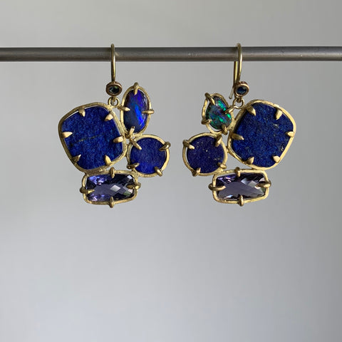 Russell Jones Lapis Cluster Earrings