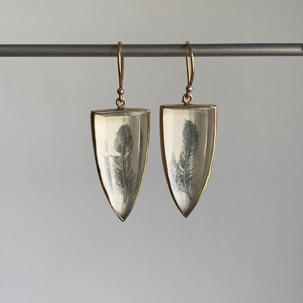 Russell Jones Miniature Painting Earrings
