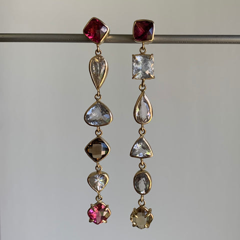 Russell Jones Multi Gemstone Long Drops