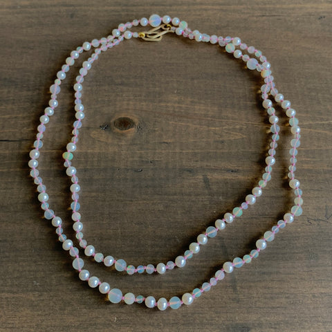 Russell Jones Freshwater Pearl and Ethiopian Opal Necklace