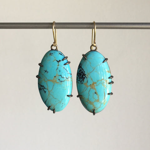 Hannah Blount Seabed Turquoise Vanity Earrings