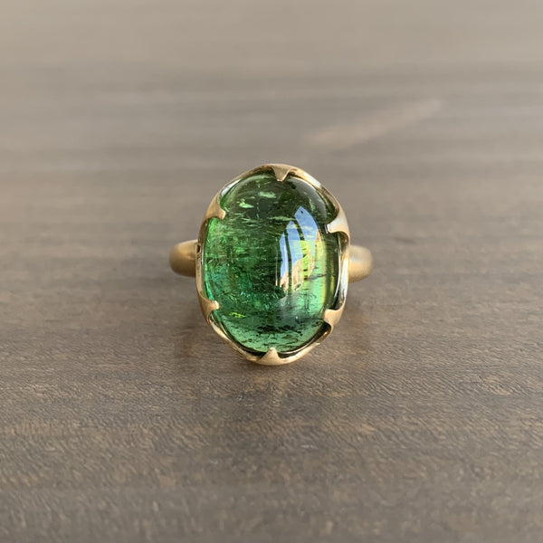 Mimi Favre Green Tourmaline Queen's Ring