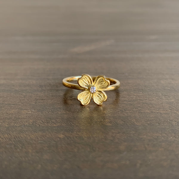 Mimi Favre Dogwood Ring with Diamond