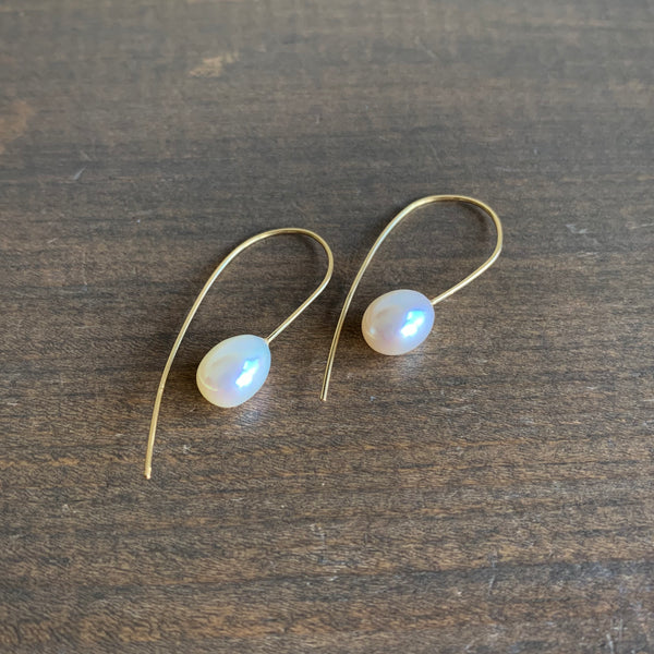 Rosanne Pugliese Mini Freshwater Pearl Drop Earrings