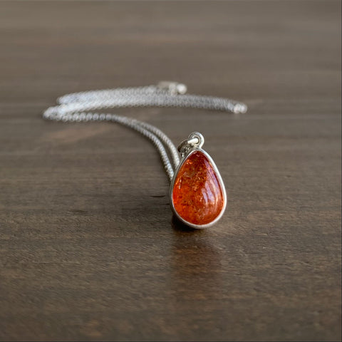 Monika Krol Sunstone Drop Pendant