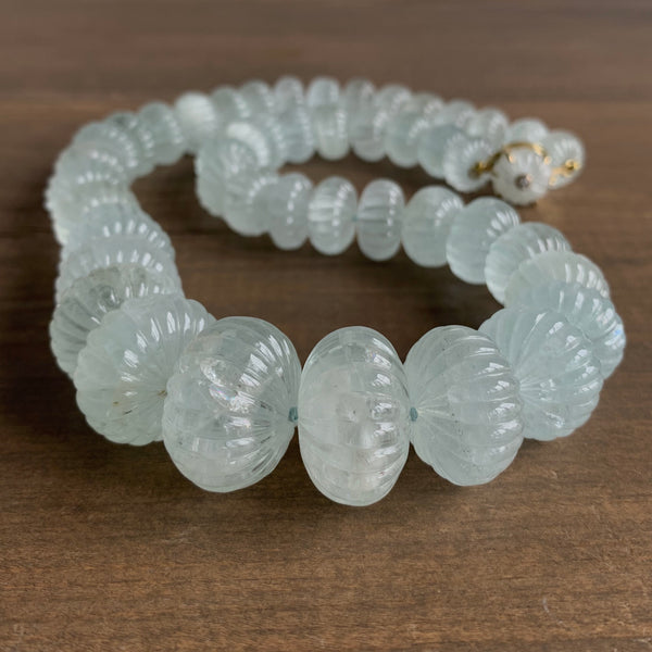 Russell Jones Aquamarine Melon Necklace