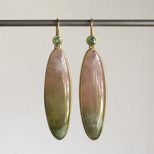 Monika Krol Watermelon Garnet Earrings