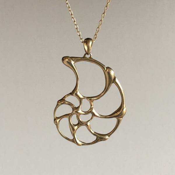 Rachel Atherley Small Gold Open Ammonite Pendant