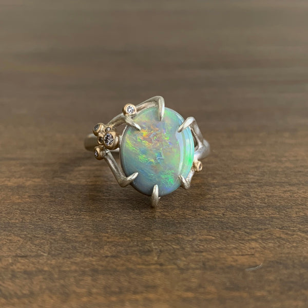 Hannah Blount Impressionist Opal Branch Waiting Ring