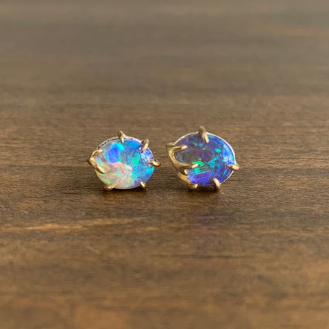 Hannah Blount Blossom Opal Branch Waiting Stud Earrings