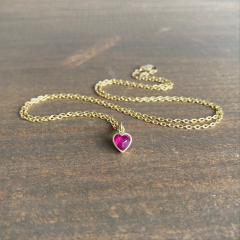 Lola Brooks Ruby Sweetheart Pendant