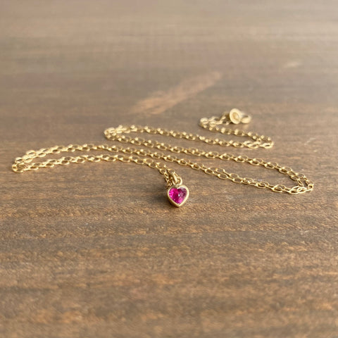 Lola Brooks Teeny Burmese Ruby Sweetheart Pendant