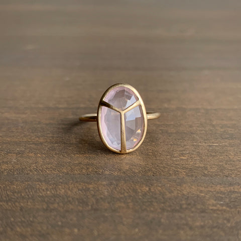 Rachel Atherley Rose Quartz Lucky Scarab Ring