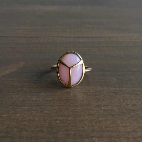 Rachel Atherley Pink Opal Lucky Scarab Ring