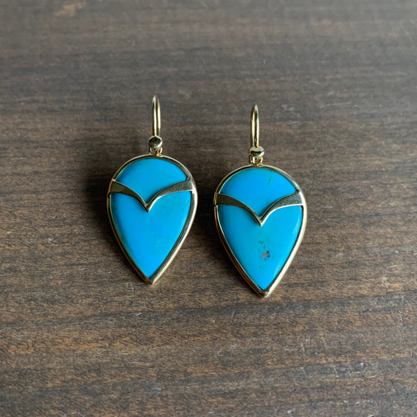 Rachel Atherley Turquoise Owl Earrings