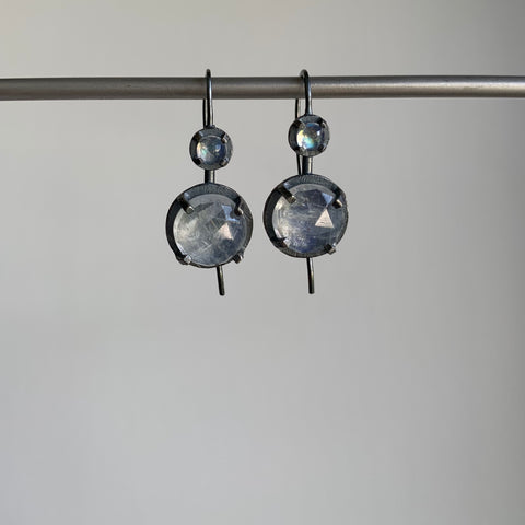 Heather Guidero Rainbow Moonstone Double Drop Earrings