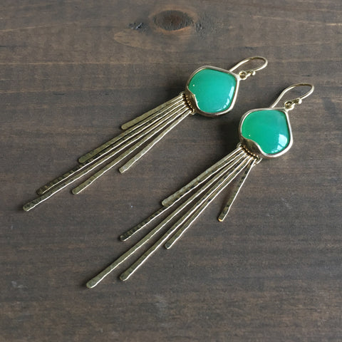 Rachel Atherley Chrysoprase Jellyfish Earrings
