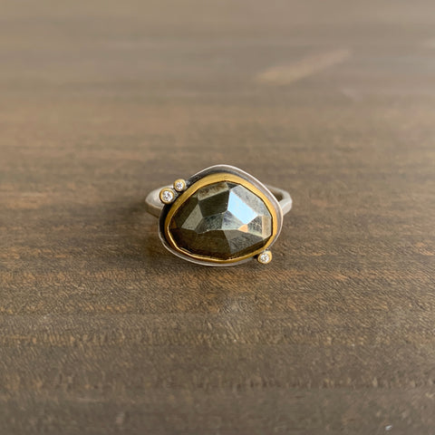 Ananda Khalsa Rose Cut Pyrite Ring