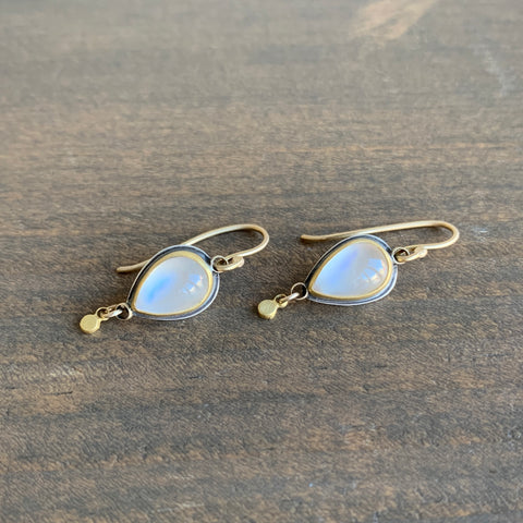 Ananda Khalsa Moonstone Drop Earrings