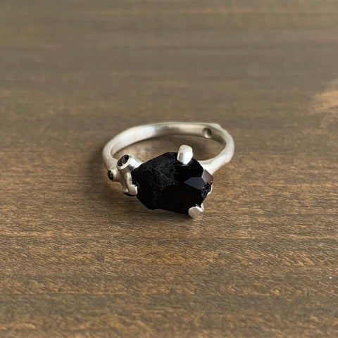 Johnny Ninos Rough Luxe Cluster Ring with Black Spinel