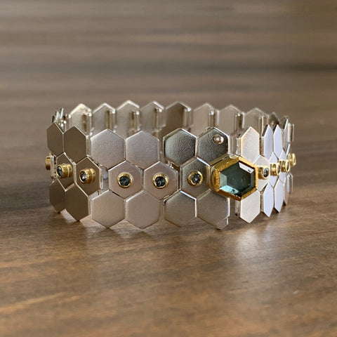 Karin Jacobson Articulated Facets Bracelet