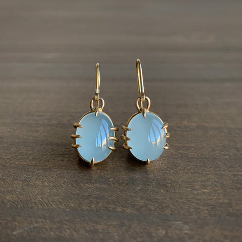 Hannah Blount Smoky Aquamarine Vanity Earrings