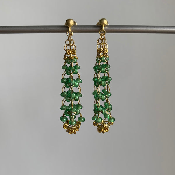 Mallary Marks Tsavorite Eiffel Tower Earrings