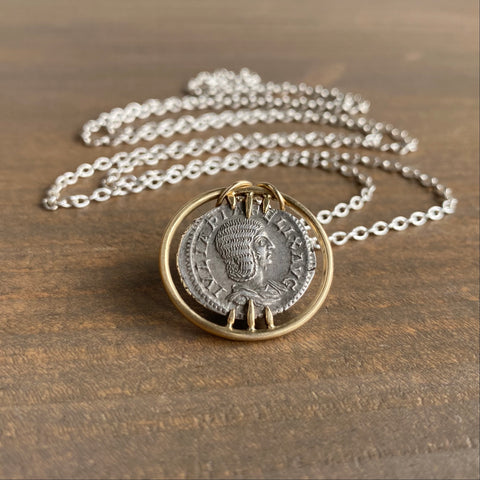 Hannah Blount Ancient Ruler Plautilla & Venus Coin Vanity Necklace