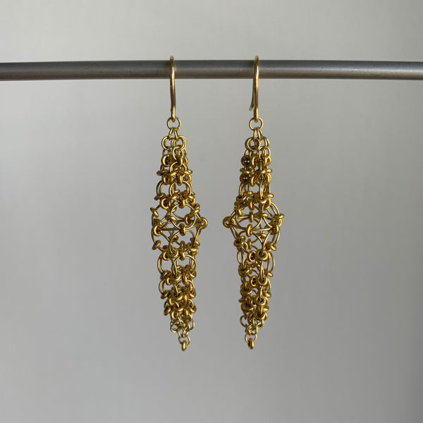 Mallary Marks Medium Gold Spire Earrings