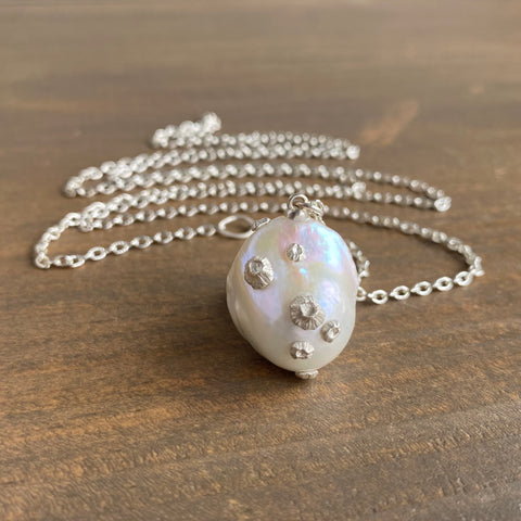 Hannah Blount Extra Grand Baroque Pearl Necklace with Barnacles