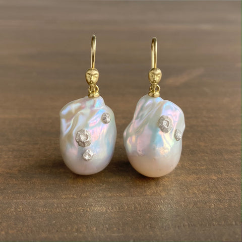 Hannah Blount Cymopoleia Pearl Figurehead Cameo Earrings