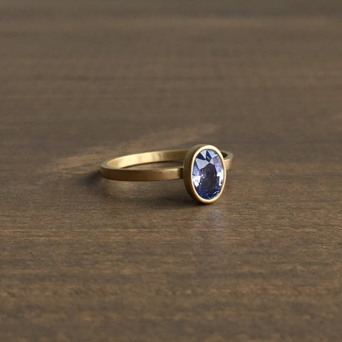 Monika Krol Icy Blue Sapphire Stacking Ring