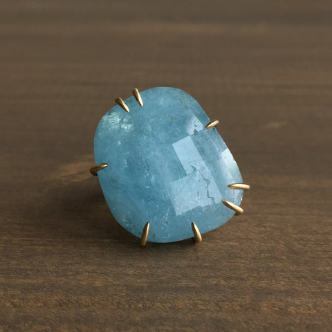 Hannah Blount Blue Moon Aquamarine Vanity Ring