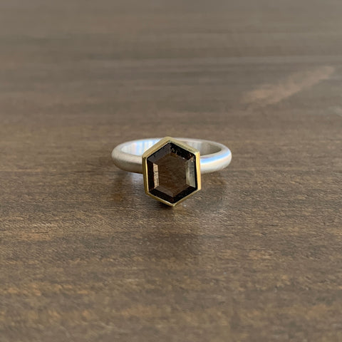 Heather Guidero Hexagon Sapphire Ring