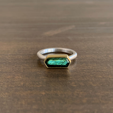 Heather Guidero Hexagon Labradorite Ring