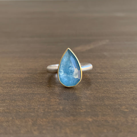Heather Guidero Teardrop Aquamarine Ring