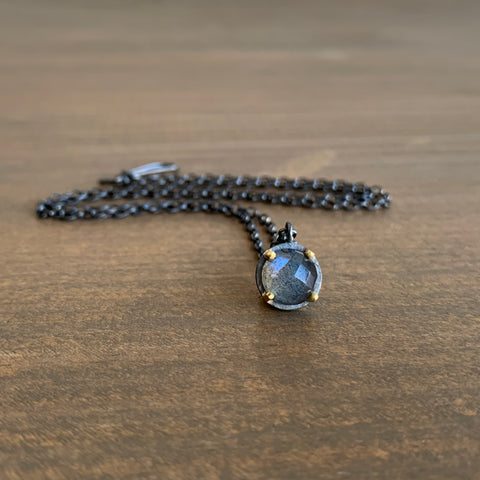 Heather Guidero Prong Set Labradorite Necklace