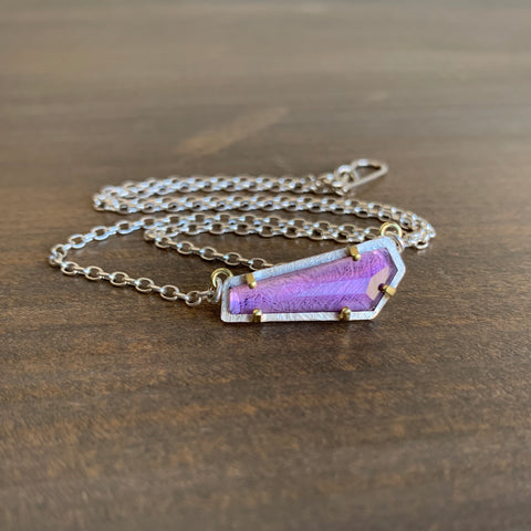 Heather Guidero Carved Prong Set Amethyst Necklace