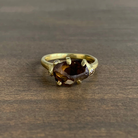 Johnny Ninos Rough Luxe Cluster Ring with Brown Zircon