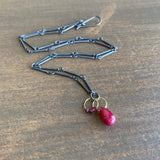 Heather Guidero Ruby & Garnet Mini Tangle Necklace