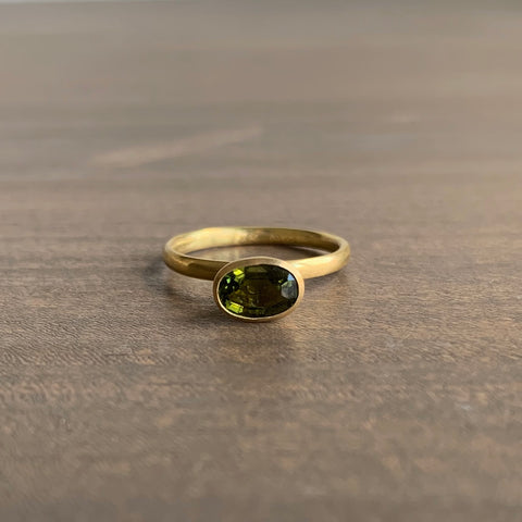 Mallary Marks Green Tourmaline Cone Ring